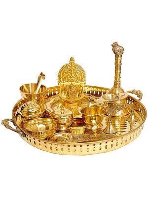 Puja Thali for Worship of Lord Ganesha