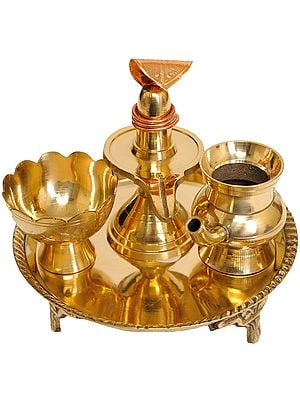 Puja Thali for Worship of Shiva Linga