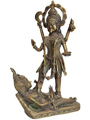 Goddess Kali: Tribal Statue from Bastar