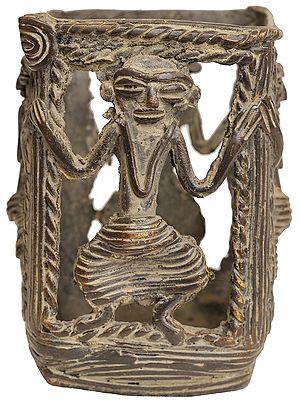 Pen Holder (Tribal Statue from Bastar)