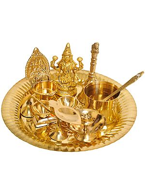 Puja Thali for Worship of Lakshmi Ji