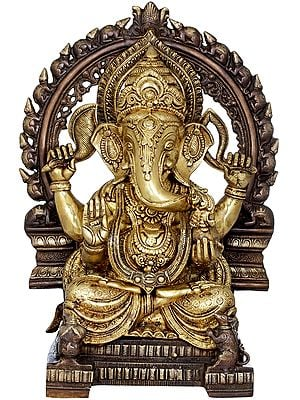 Large Sized Enthroned Ganesha