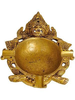 Mahakala Three Wick Lamp (Tibetan Buddhist Deity)