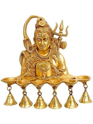 Wall Hanging Shiva Lamp with Bells
