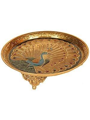 Peacock Puja Chowki (Pedestal)