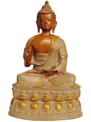 Preaching Buddha Seated on Double Lotus