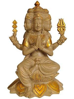 Six Headed Karttikeya Seated on Lotus (Murugan)