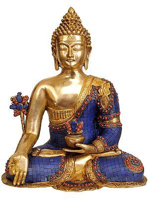 Lapis Healing Buddha (Inlay Statue)