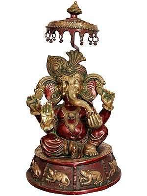 Large Size Lord Ganesha with Umbrella
