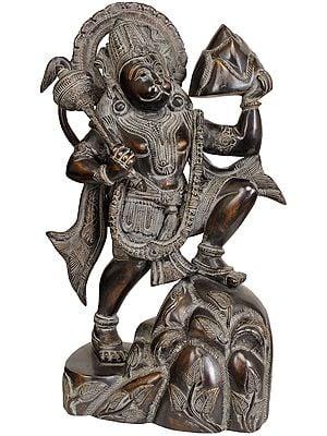 Lord Hanuman Carrying Mount Dron of Sanjeevani Herbs
