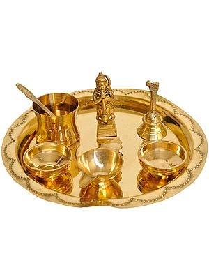 Puja Thali for Worship of Lord Hanuman