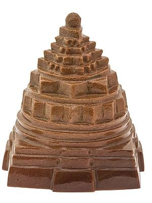 Shri Yantra (Carved in Sunstone)