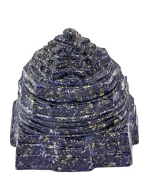 Shri Yantra  (Carved in Lapis Lazuli)