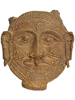 Tribal Bhairava Head (Flat Statue)