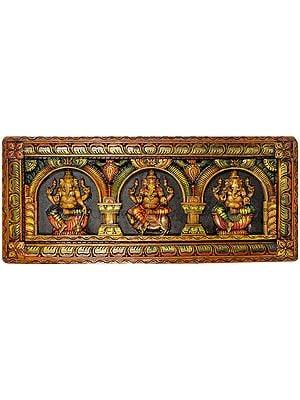Triple Ganesha Panel