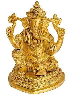 Lord Ganesha Granting Abhaya