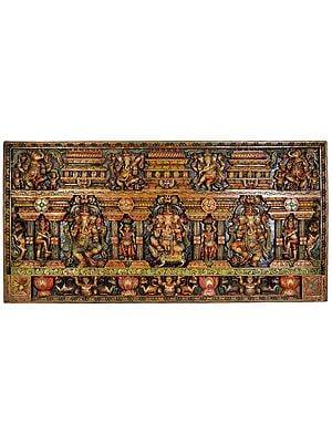 Lord Ganesha Temple Panel
