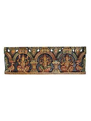 Triple Ganeshas Panel