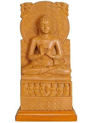 Sarnath Buddha (Shakyamuni Delivering First Sermon in the Deer Park (mrigadawa) at Sarnath to His First Five Disciples)