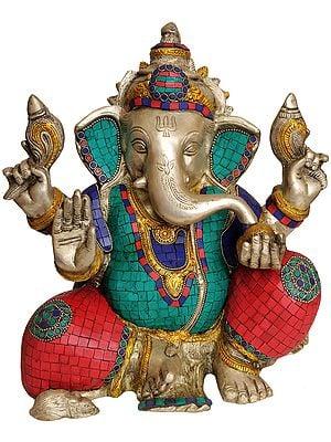 Lord Ganesha In Ashirvad Mudra