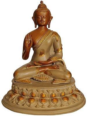 Lord Buddha Granting Abhaya - Tibetan Buddhist