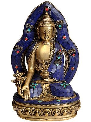 Enthroned Medicine Budha (Tibetan Buddhist Deity)