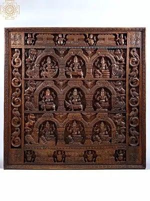 Nine Ganesha Panel