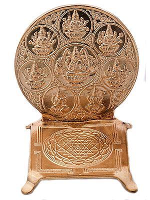 Ashtalakshmi Yantra (Peedam) with OM on Reverse