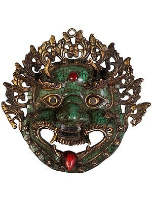 Mahakala Wall Hanging Mask with Inlay