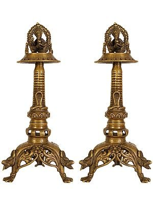 Lord Ganesha Butter Lamp Pair