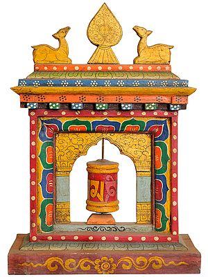 Tibetan Buddhist Enshrined Prayer wheel