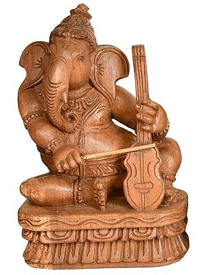 Ganesha The Musician Playing Violin