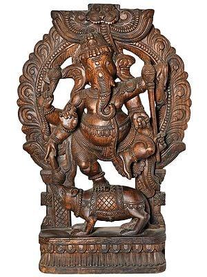 Large Size Dancing Ganesha on Rat