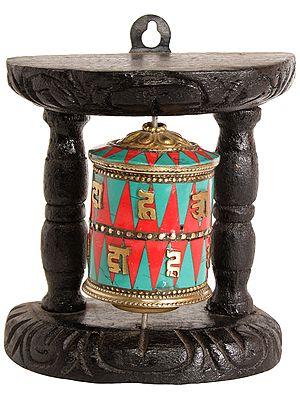 Enshrined Prayer Wheel (Tibetan Buddhist)