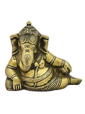 Relaxing Ganesha  (Small Statue)