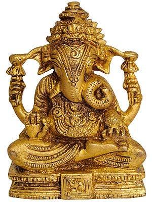 Seated Ganesha (Small Statue)