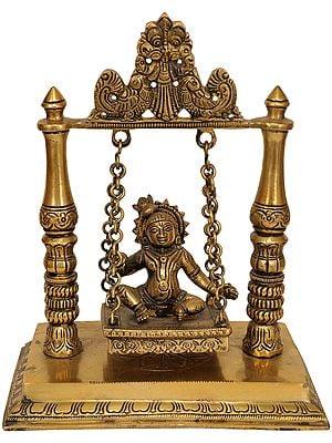 Baby Krishna on Swing