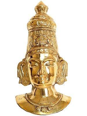 Goddess Parvati Wall Hanging Mask