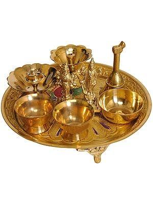 Lakshmi-Narayana Puja Thali