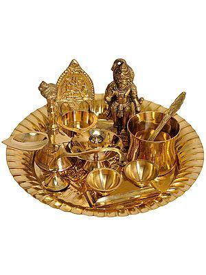 Lord Hanuman Puja Thali with Lakshmi Ji Diya