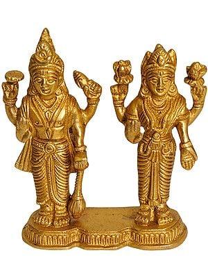 Lord Vishnu with Lakshmi Ji