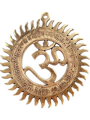 OM Wall Hanging with Gayatri Mantra