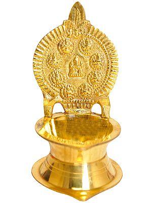 Nine Ganeshas Diya