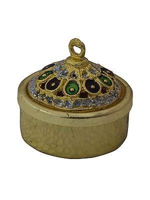 Decorated Kumkum Box
