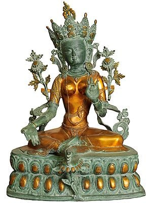 Tibetan Buddhist Goddess Green Tara (Large Size)