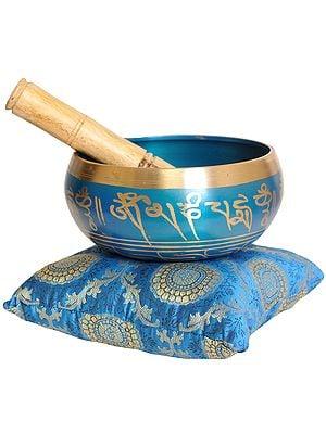 Tibetan Buddhist Singing Bowl with Syllable Mantra