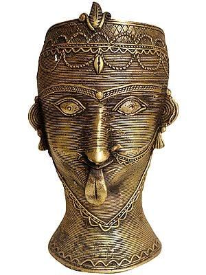 Goddess Kali Head (Tribal Statue from Bastar)