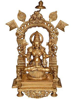 Goddess Lakshmi Holding the Vaishnava Symbols