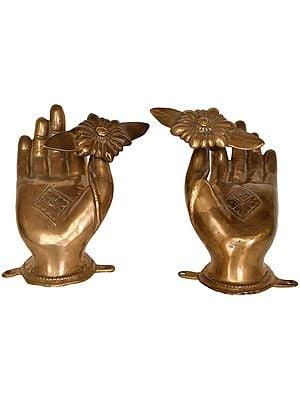 Blessing Lotus Hands of Buddha Door Knob