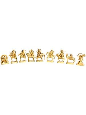 Golden Navagraha, Set Of Nine Deities